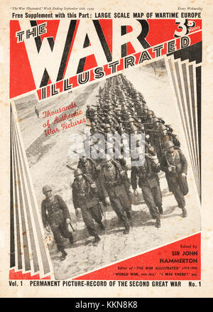 1939 The War Illustrated First Edition - Stock Image