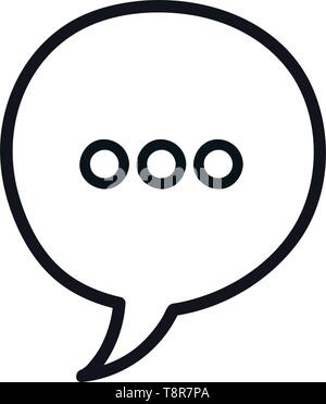 speech bubble message monochrome icon vector illustration design - Stock Image