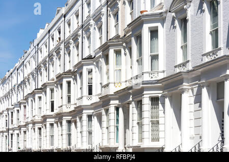 Terraced houses, Hatherley Grove, Bayswater, City of Westminster, Greater London, England, United Kingdom - Stock Image