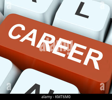 Career Key On Keyboard Meaning Business Life Professional Life Occupation Or Job - Stock Image