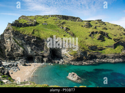 Tintagel in Cornwall, England, UK - Stock Image