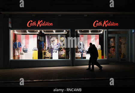 Brighton Views at night - The Cath Kidston shop in North Street  Photograph taken by Simon Dack - Stock Image