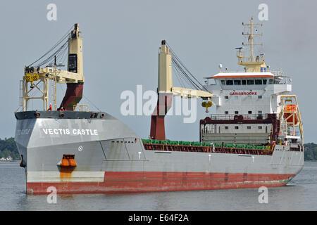 Cross-Bow vessel Vectis Castle - Stock Image