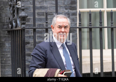 London 26th March 2019, Geoffrey Cox QC MP leaves a Cabinet meeting at 10 Downing Street, London Credit: Ian Davidson/Alamy Live News - Stock Image