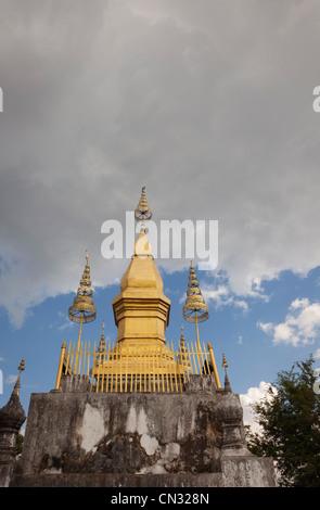 Wat Chom Si on Phou Si Hill, Luang Prabang, Laos PDR - Stock Image