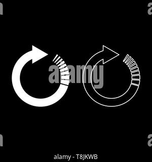 Circle arrow with tail effect Circular arrows Refresh update concept icon outline set white color vector illustration flat style simple image - Stock Image