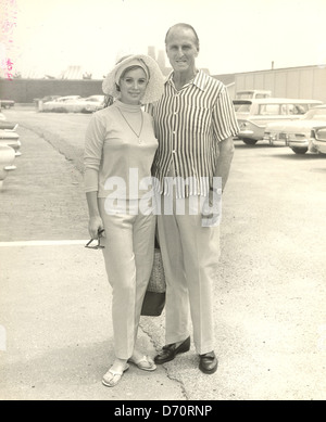 Jill St. John & Prince Serge Obolensky, Southampton, ca 1960 - Stock Image