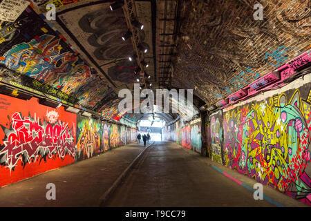 Leake Street Arches, Waterloo, Southwark, London, SE1, UK - Stock Image