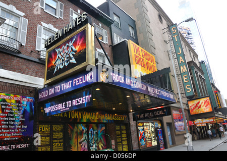 Helen Hayes theater, Broadway, New York City, USA - Stock Image