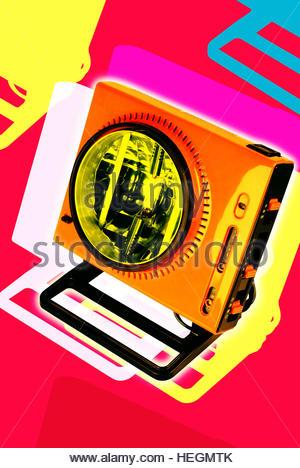 Sun ray lamp vintage tan tanning salon suntan summer electronic - Stock Image