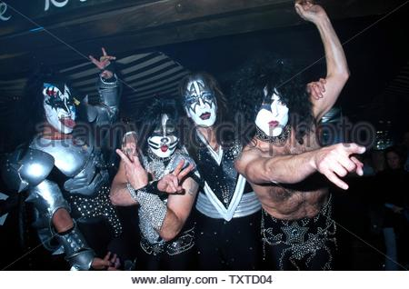 2/5/2002. Kiss At 'The Big Kiss' Fashion Event - Lane Bryant's 2002 Lingerie Fashion Show With Special Musical Performance By Kiss At The Roseland Ballroom, Credit: 1309446Globe Photos/MediaPunch - Stock Image
