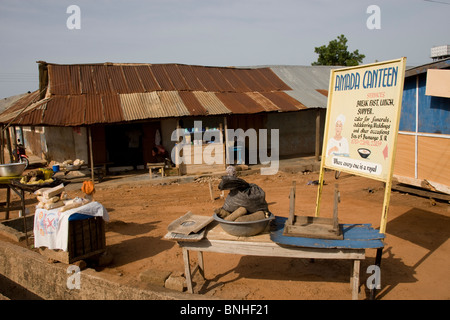 The only restaurant in Damango, northwest Ghana. - Stock Image