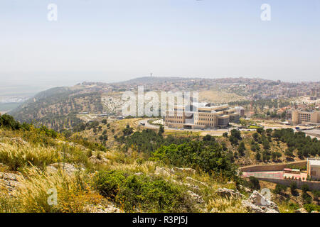5 May 2018 A view of modern Nazareth in Israel from the mount Precipice. Tradition has this as the place where men would have killed  Jesus Christ - Stock Image
