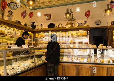 Fromagerie Jouannault on Rue Bretagne in Paris, France. - Stock Image