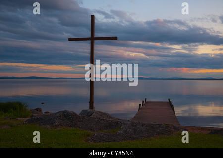 Cross by Rattvik's church, Dalarna, Sweden - Stock Image