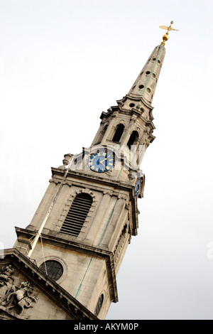 Spire of St Martin in the Fields Church London - Stock Image