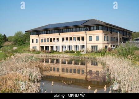 Rowan House, part of the Mountjoy Centre of Durham University, Durham City, Co. Durham, England, UK - Stock Image