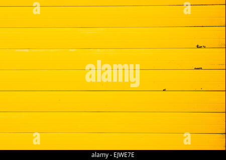Part of a yellow metal sheet as a background image - Stock Image