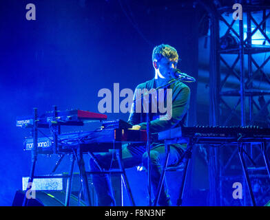 James Blake playing live - Stock Image