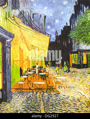 Cafe Terrace at Night by Vincent van Gogh 1888 - Stock Image