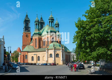 Poznan Cathedral, view of the city Cathedral with its distinctive five towers, Ostrow Tumski, Poznan, Poland. - Stock Image