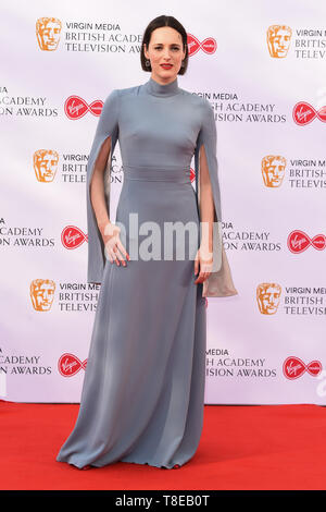 London, UK. 12th May, 2019. LONDON, UK. May 12, 2019: Pheobe Waller Bridge arriving for the BAFTA TV Awards 2019 at the Royal Festival Hall, London. Picture: Steve Vas/Featureflash Credit: Paul Smith/Alamy Live News - Stock Image