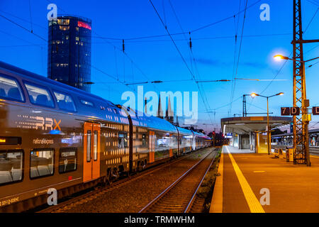 Regional Express Rhine-Ruhr, RRX, the new train on the track, the cars drive on existing regional routes, by 2025, the RRX, in 15-minute intervals, be - Stock Image