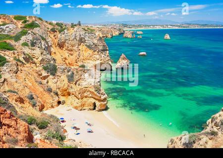 Camilo beach, Lagos, Algarve, Portugal, - Stock Image