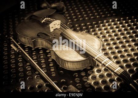 A violin fiddle. - Stock Image