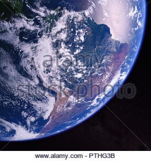 South America from space - Stock Image