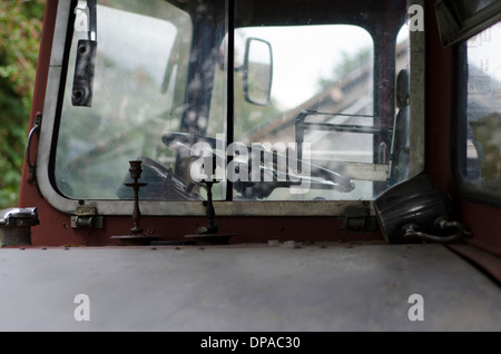 The front of a travellers double decker bus - Stock Image