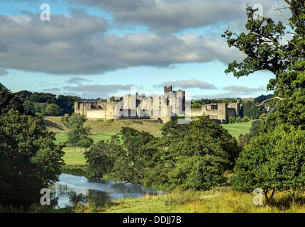 A Landscape  view of Alwick Castle - Stock Image