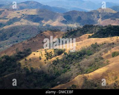 rolling farmland and grazing pasture in Costa Rica near San Jose, the capital. - Stock Image