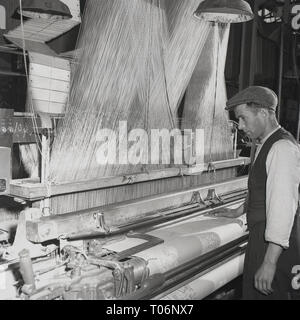 1950s, Linen manufacture, Nothern Ireland - Stock Image