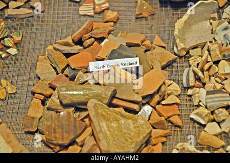 Historic Jamestown landing Original Settlement archaeological excavation - Stock Image
