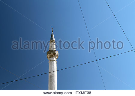 Albania. 04th Sep, 2013. The minaret of the Leaden Mosque in Berat. © Dominic Dudley/Pacific Press/Alamy Live - Stock Image