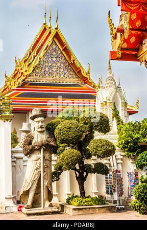 Guardian statue, Wat Pho, Bangkok, Thailand - Stock Image