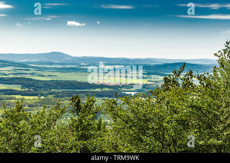 Panoramatic view of the South Bohemia and surrounding landscape, Czech Republic. - Stock Image