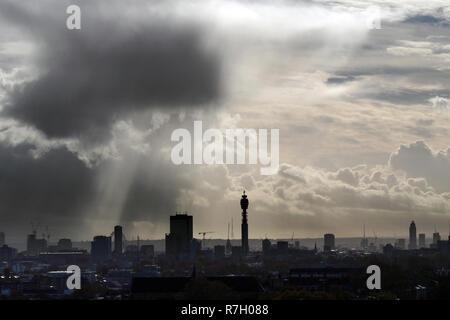 London UK City Skyline - Stock Image