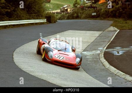1968 Hans Wangstre Swedish Ferrari Dino 206S Nurburgring 1000Ks dnf - Stock Image