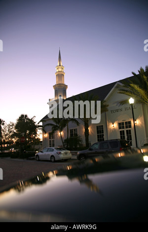 Tradition Town Hall at dusk, Port St. Lucie, FL, USA - Stock Image
