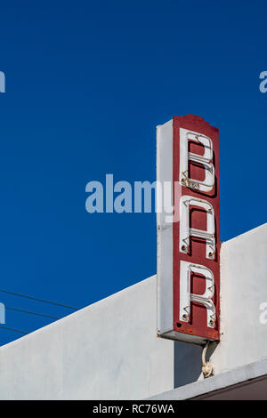 Bar sign outside Yardbird Southern Table and Bar, Miami Beach, Florida - Stock Image