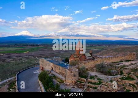 Khor Virab Monastry in Armenia, taken in April 2019rn' taken in hdr - Stock Image