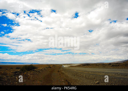 Road to El Calafate from Puerto Madryn Argentina - Stock Image