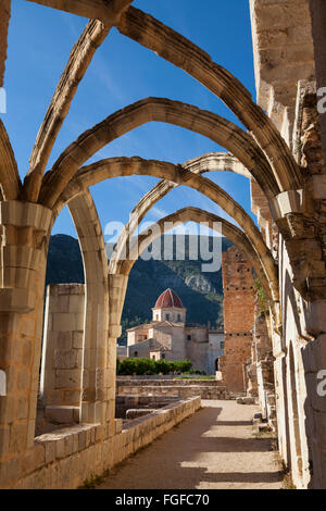 The ruins around the Cistercian Monastery of Saint Mary of Valldigna in Simat Spain - Stock Image