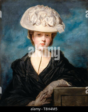Sir Joshua Reynolds, Miss Mary Hickey, portrait painting of a young woman, 1770 - Stock Image