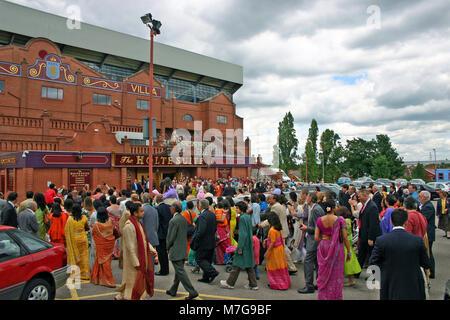 Asian wedding, at Villa Park, Birmingham - Stock Image