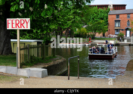 Pedestrian ferry across River Avon, Stratford upon Avon, Warwickshire - Stock Image