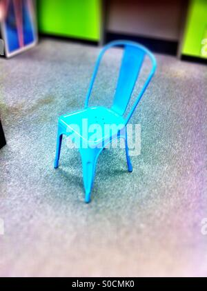 Blue chair - Stock Image