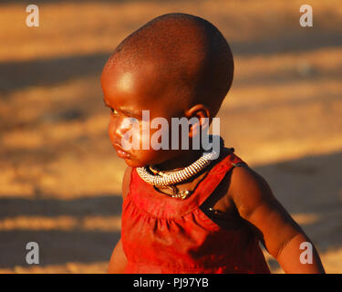 Authentic Himba village in Namibia - Stock Image